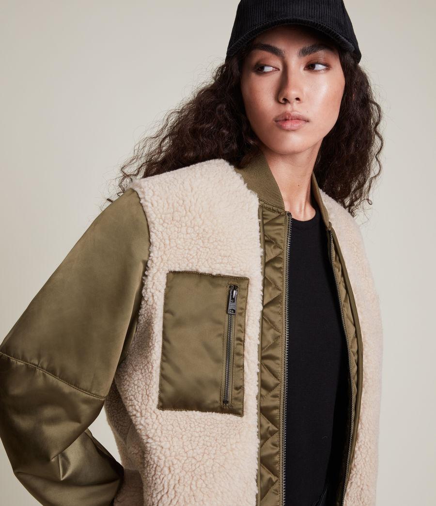 Damen Suri Bomber Jacket (khaki_ivory) - Image 2