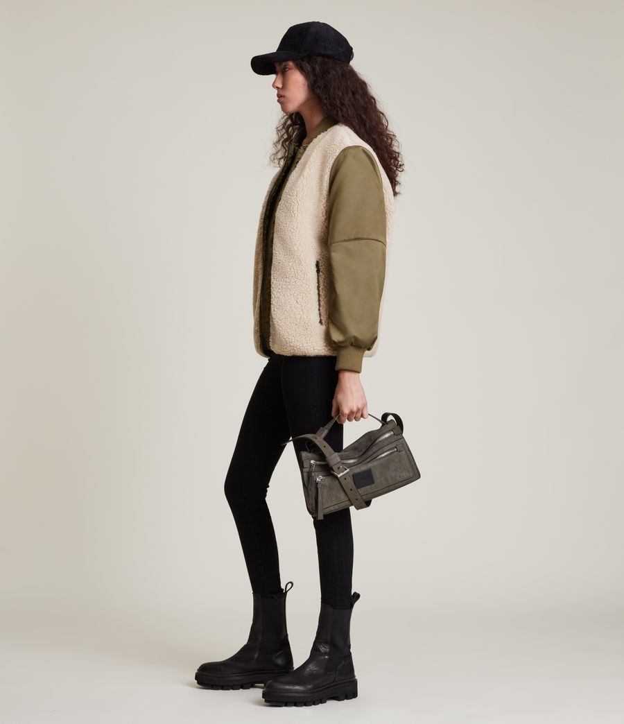 Damen Suri Bomber Jacket (khaki_ivory) - Image 3