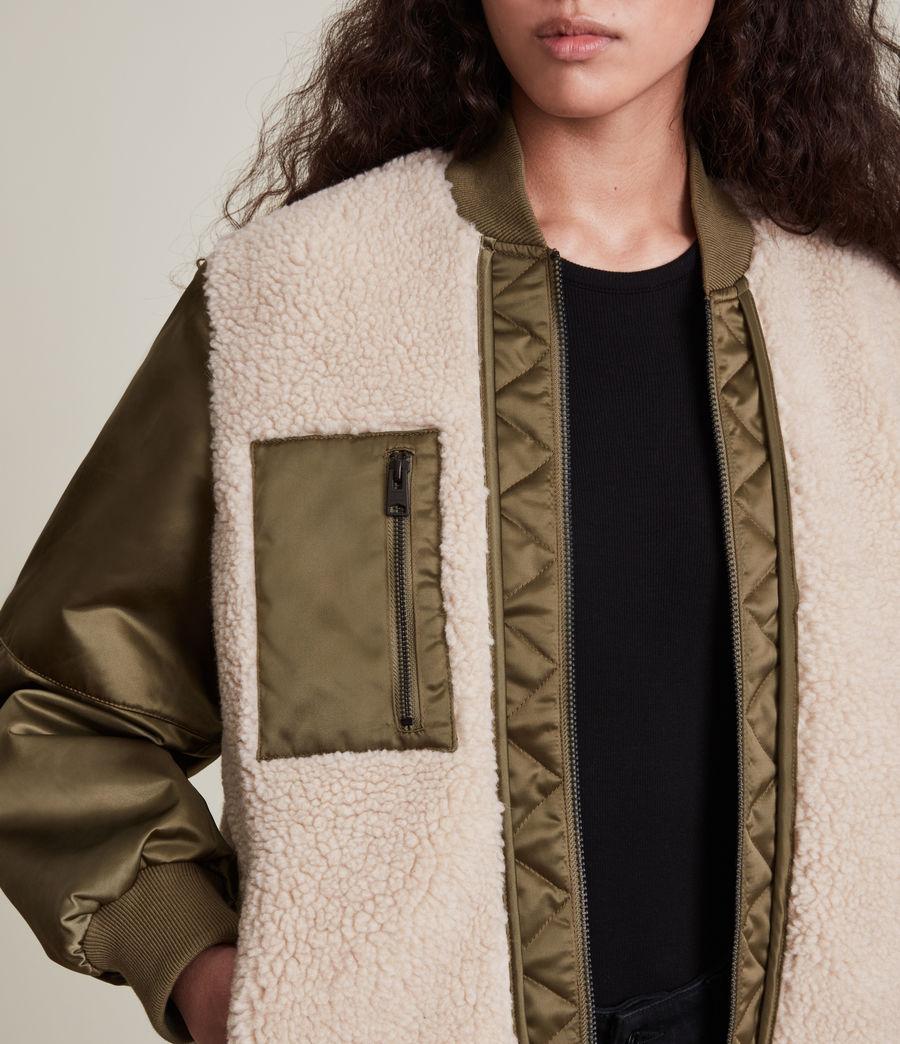 Damen Suri Bomber Jacket (khaki_ivory) - Image 5