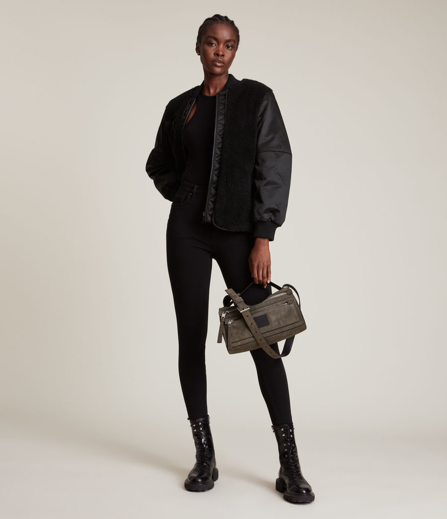 Women's Suri Bomber Jacket (black_black) - Image 1
