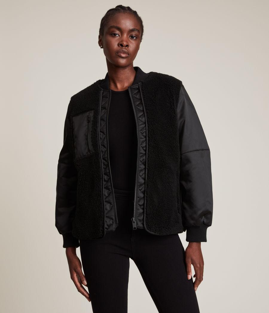 Women's Suri Bomber Jacket (black_black) - Image 2