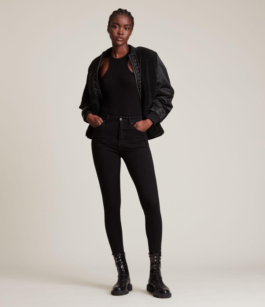 Women's Suri Bomber Jacket (black_black) - Image 3