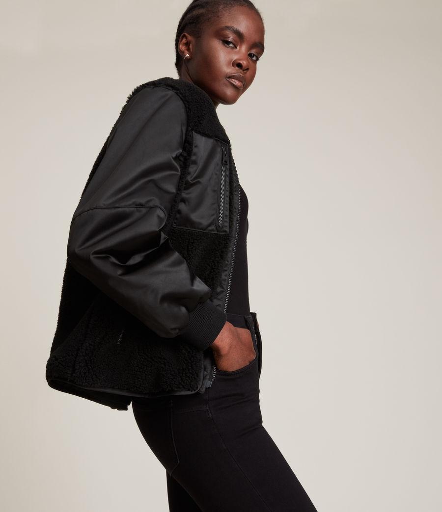 Women's Suri Bomber Jacket (black_black) - Image 5