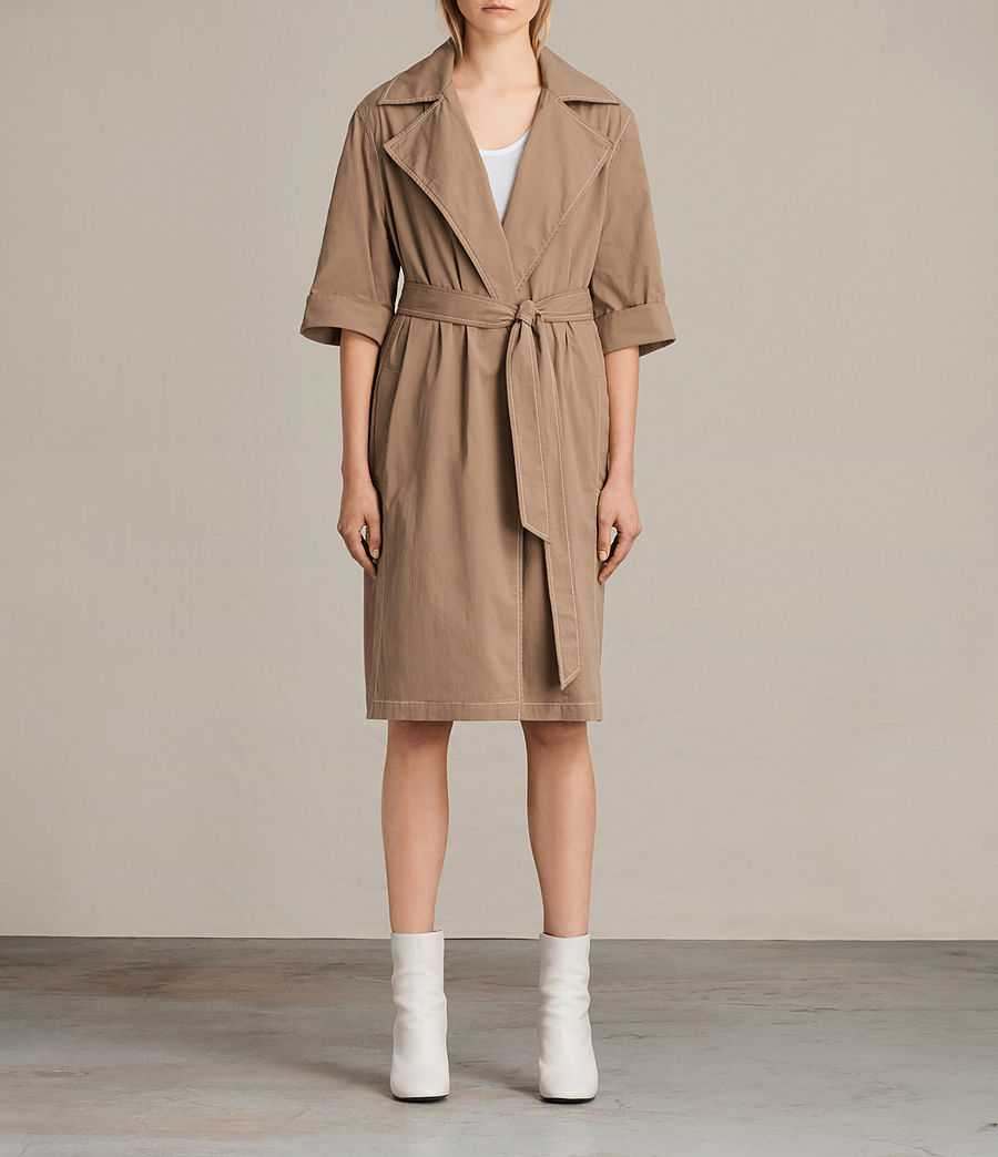 Donne Trench coat Luna Stitch (sand_brown) - Image 1