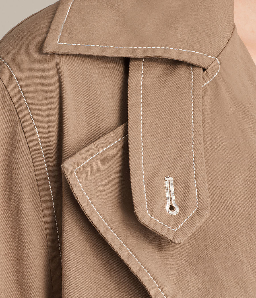 Donne Trench coat Luna Stitch (sand_brown) - Image 2