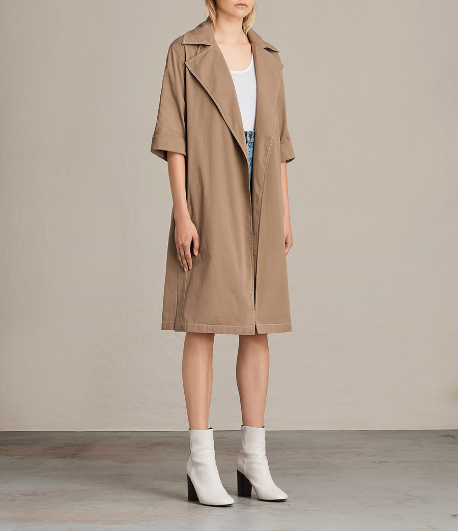 Donne Trench coat Luna Stitch (sand_brown) - Image 3