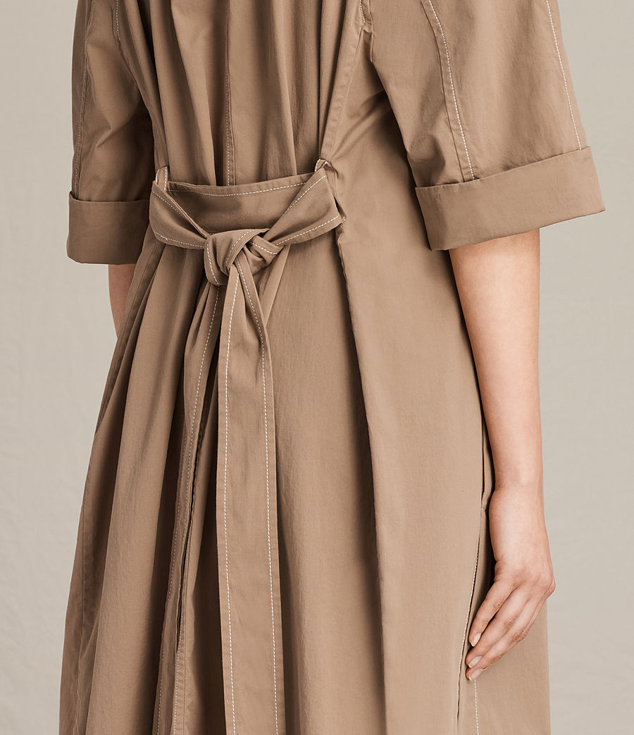Donne Trench coat Luna Stitch (sand_brown) - Image 4