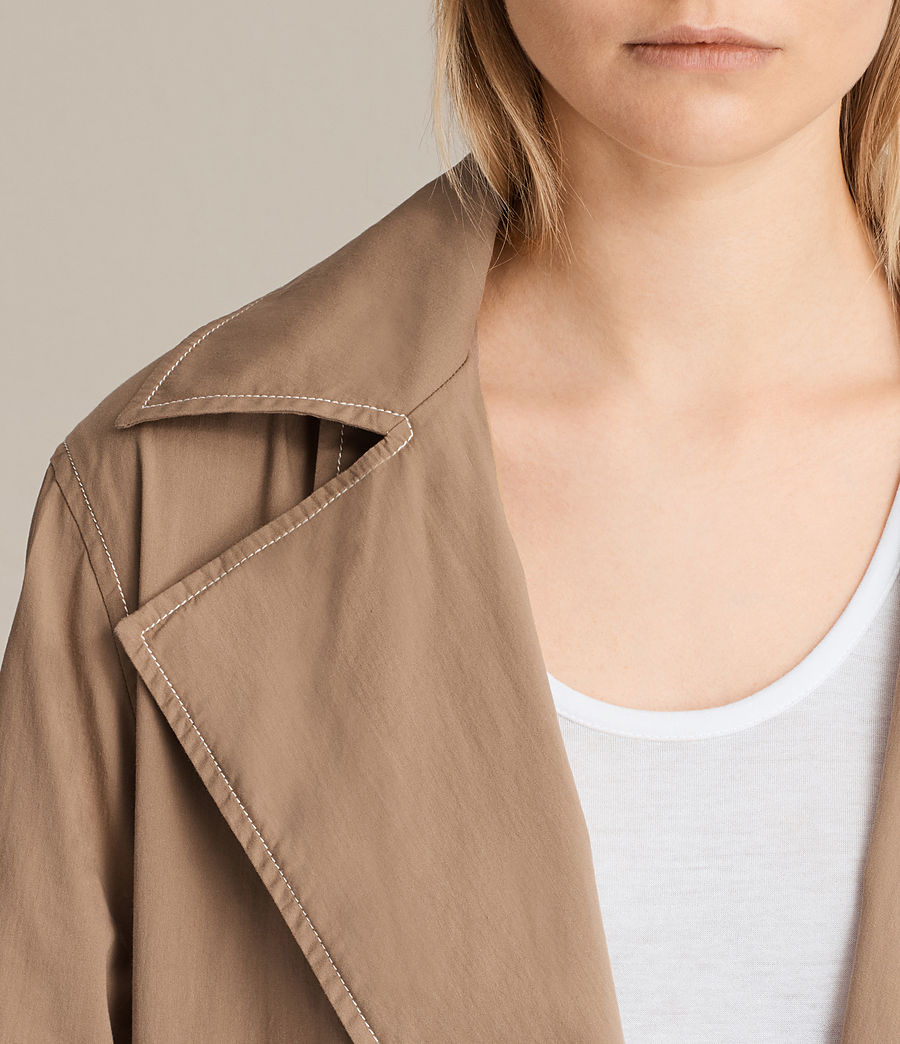Donne Trench coat Luna Stitch (sand_brown) - Image 5