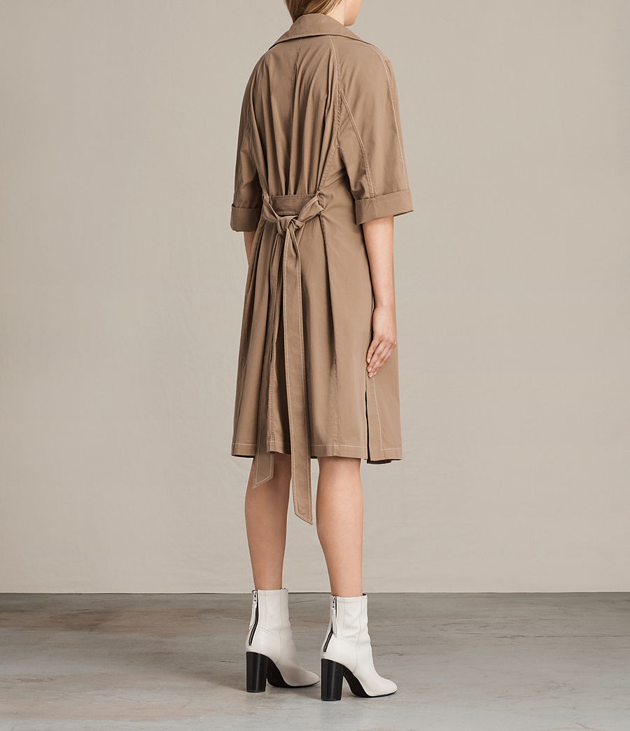 Donne Trench coat Luna Stitch (sand_brown) - Image 6