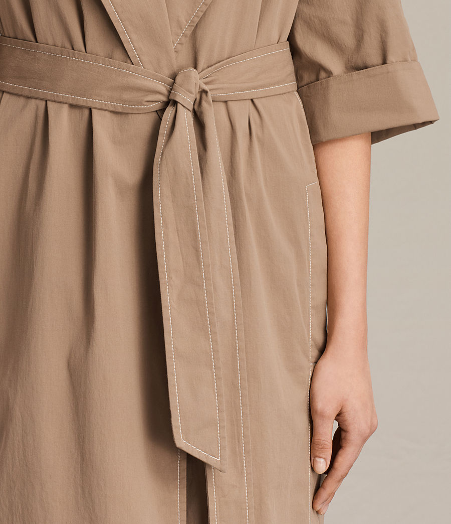 Donne Trench coat Luna Stitch (sand_brown) - Image 7