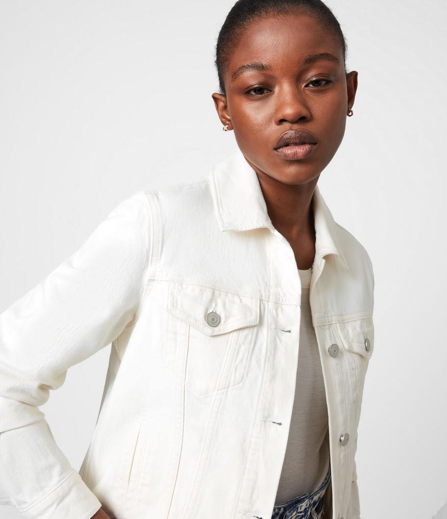 Women's Hay Denim Jacket (ecru_white) - Image 4