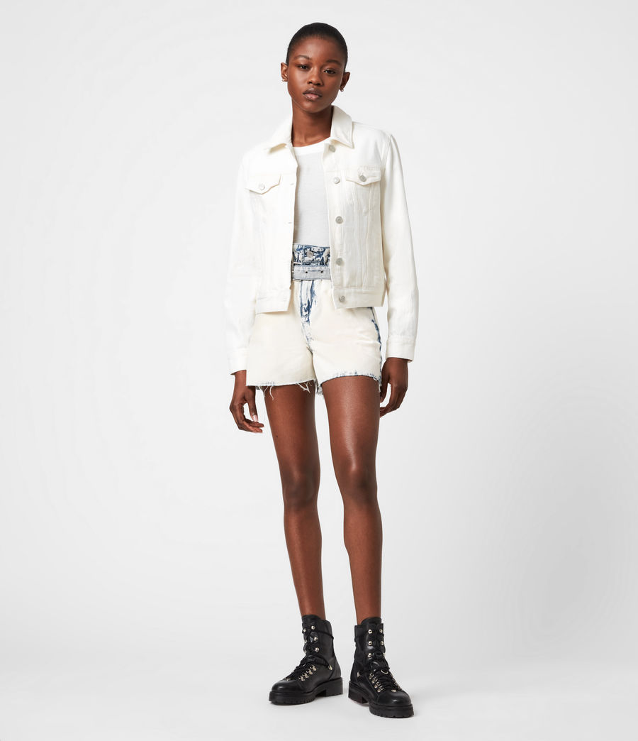 Women's Hay Denim Jacket (ecru_white) - Image 6