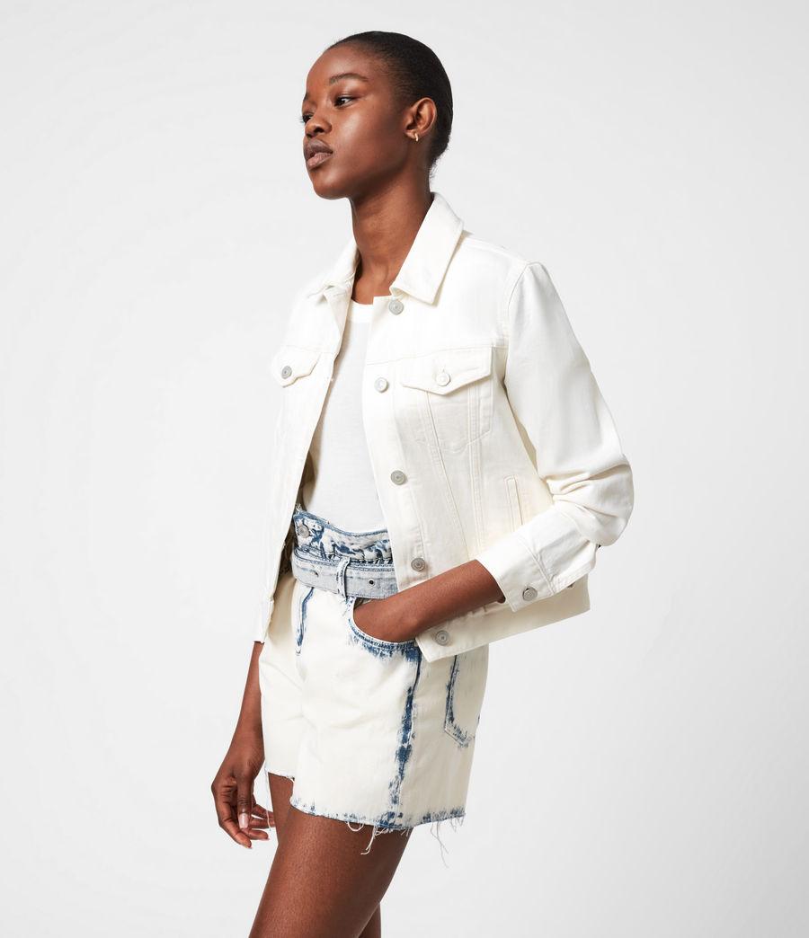 Women's Hay Denim Jacket (ecru_white) - Image 7
