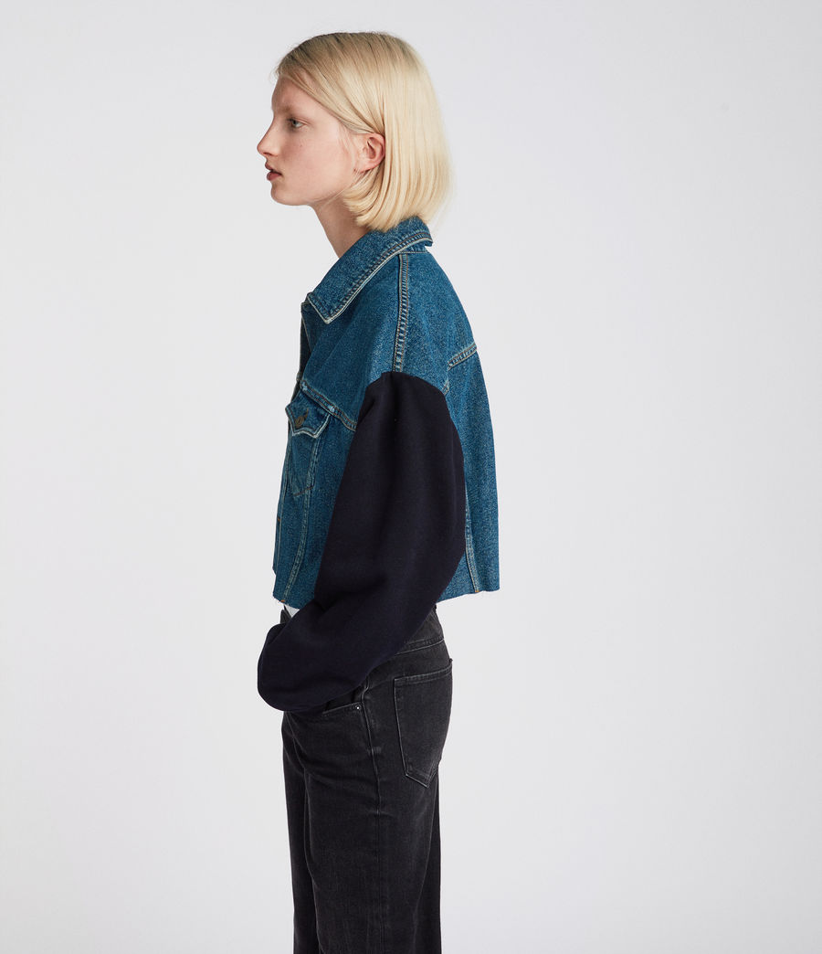Womens Anders Denim Jacket (indigo_blue) - Image 2