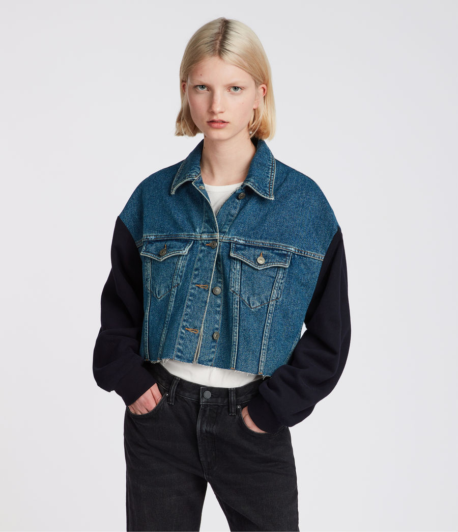 Womens Anders Denim Jacket (indigo_blue) - Image 3