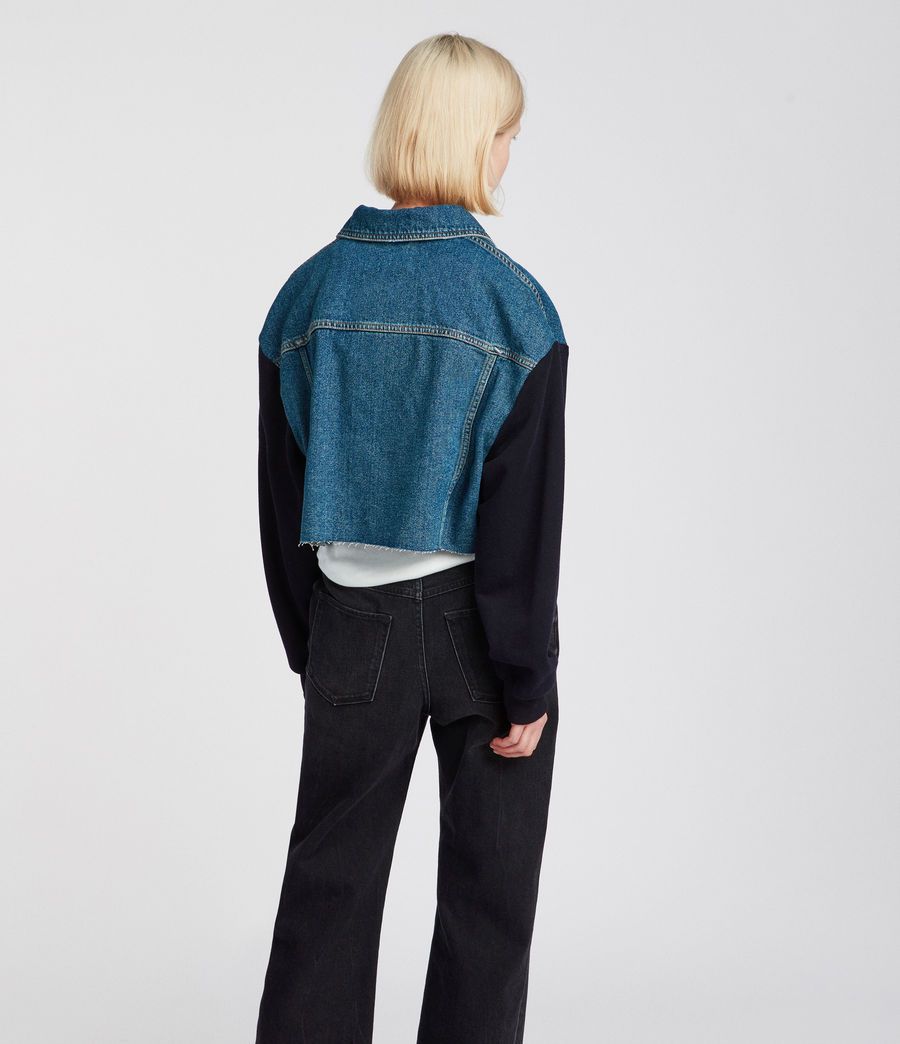 Womens Anders Denim Jacket (indigo_blue) - Image 4