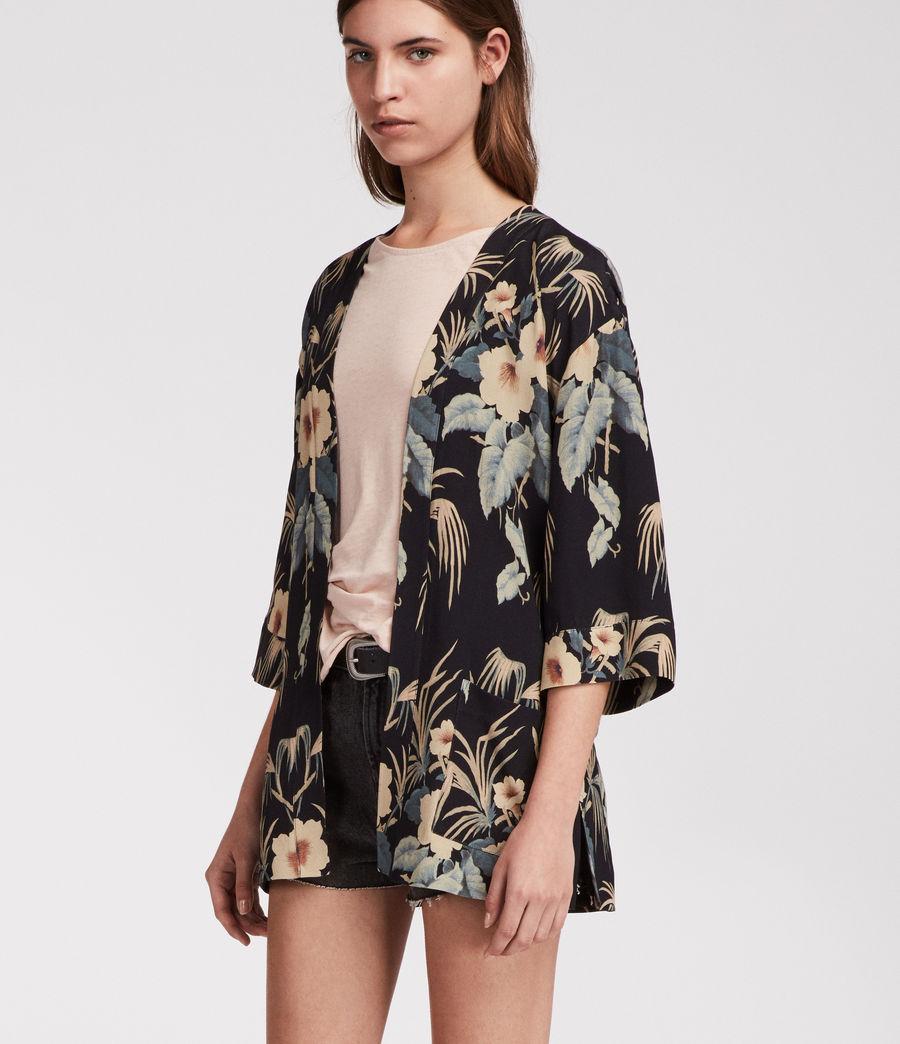 Womens Kyoto Kimono Jacket (ink) - Image 4