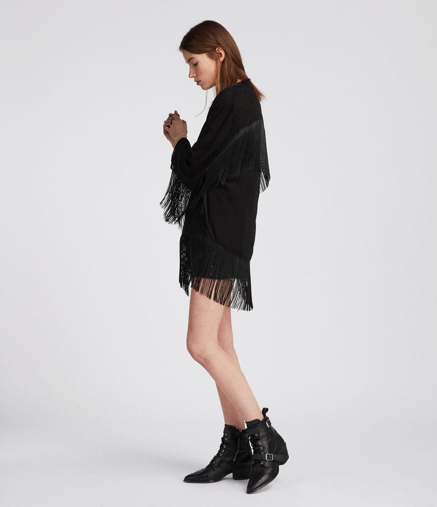 Womens Tassel Kimono (black) - Image 1