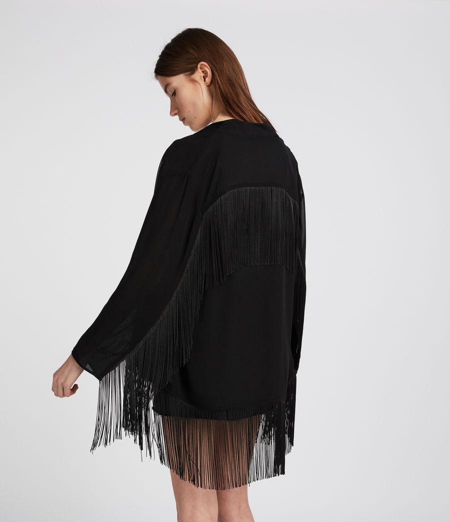 Womens Tassel Kimono (black) - Image 3