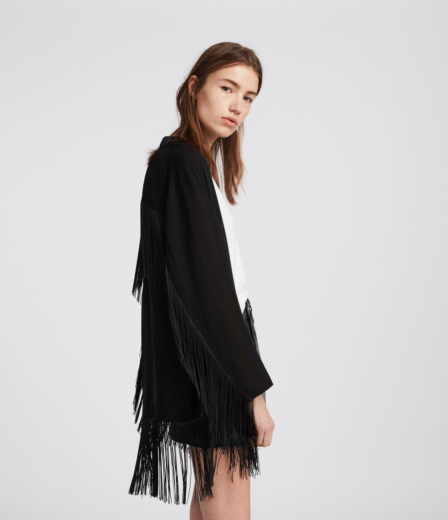 Womens Tassel Kimono (black) - Image 4