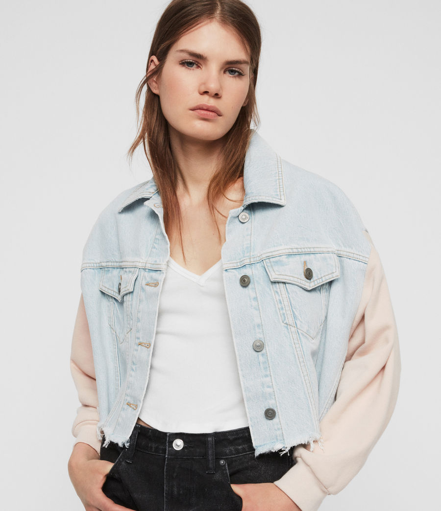 Womens Anders Denim Jacket (snow_blue) - Image 1