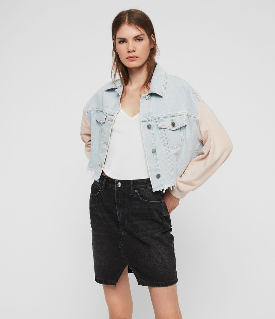 Womens Anders Denim Jacket (snow_blue) - Image 3