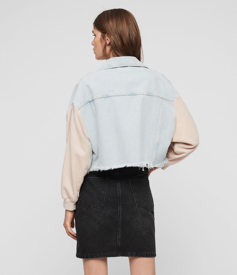 Womens Anders Denim Jacket (snow_blue) - Image 5