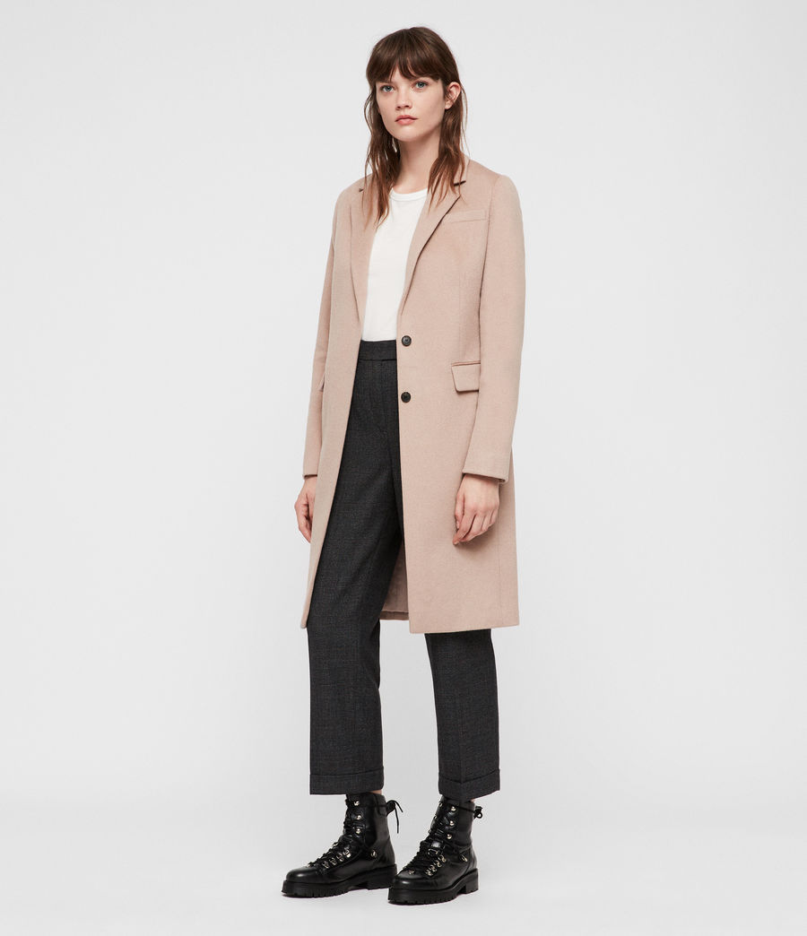 Womens Indra Coat (dusty_pink) - Image 1