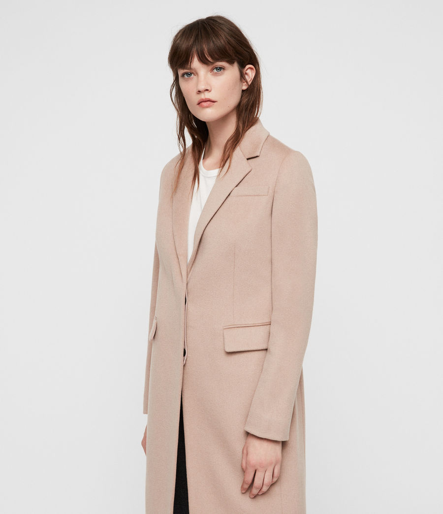 Womens Indra Coat (dusty_pink) - Image 4