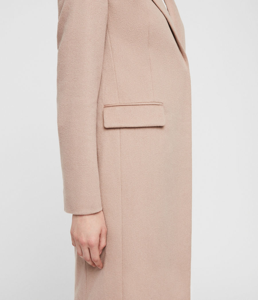Womens Indra Coat (dusty_pink) - Image 5