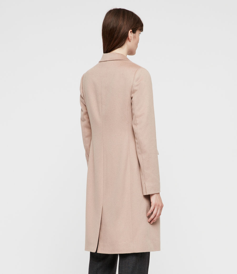 Womens Indra Coat (dusty_pink) - Image 6