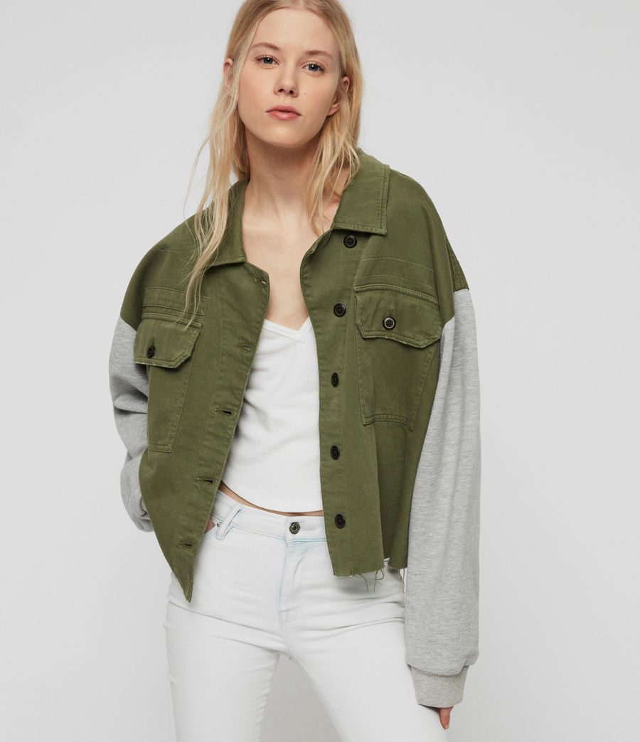 Womens Morten Denim Jacket (khaki_green) - Image 1