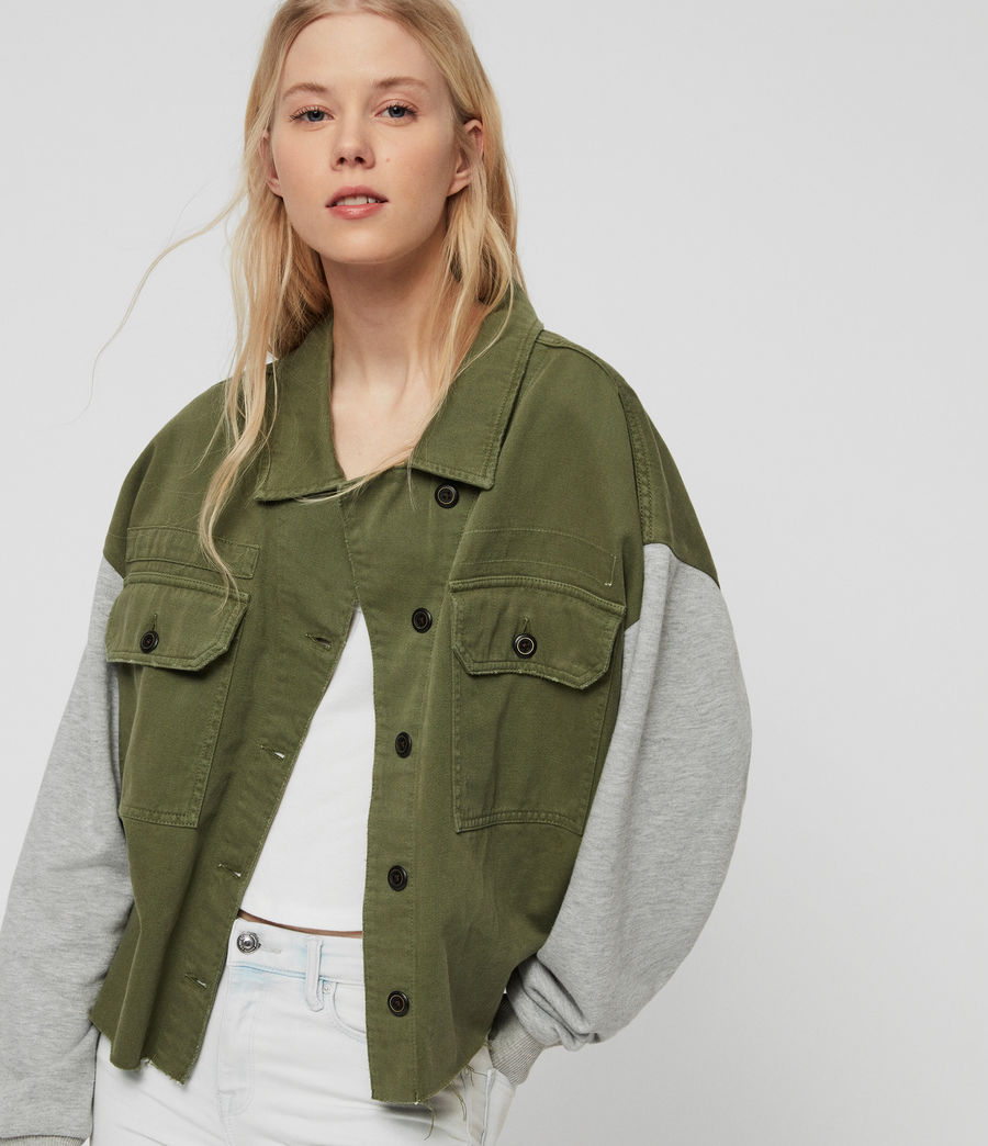 Womens Morten Denim Jacket (khaki_green) - Image 2