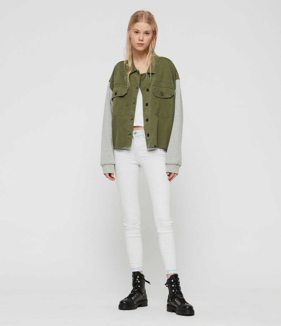 Womens Morten Denim Jacket (khaki_green) - Image 3