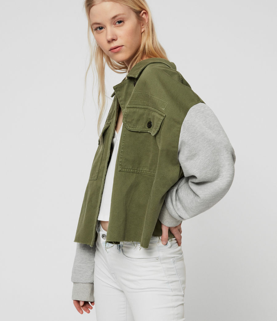Womens Morten Denim Jacket (khaki_green) - Image 5