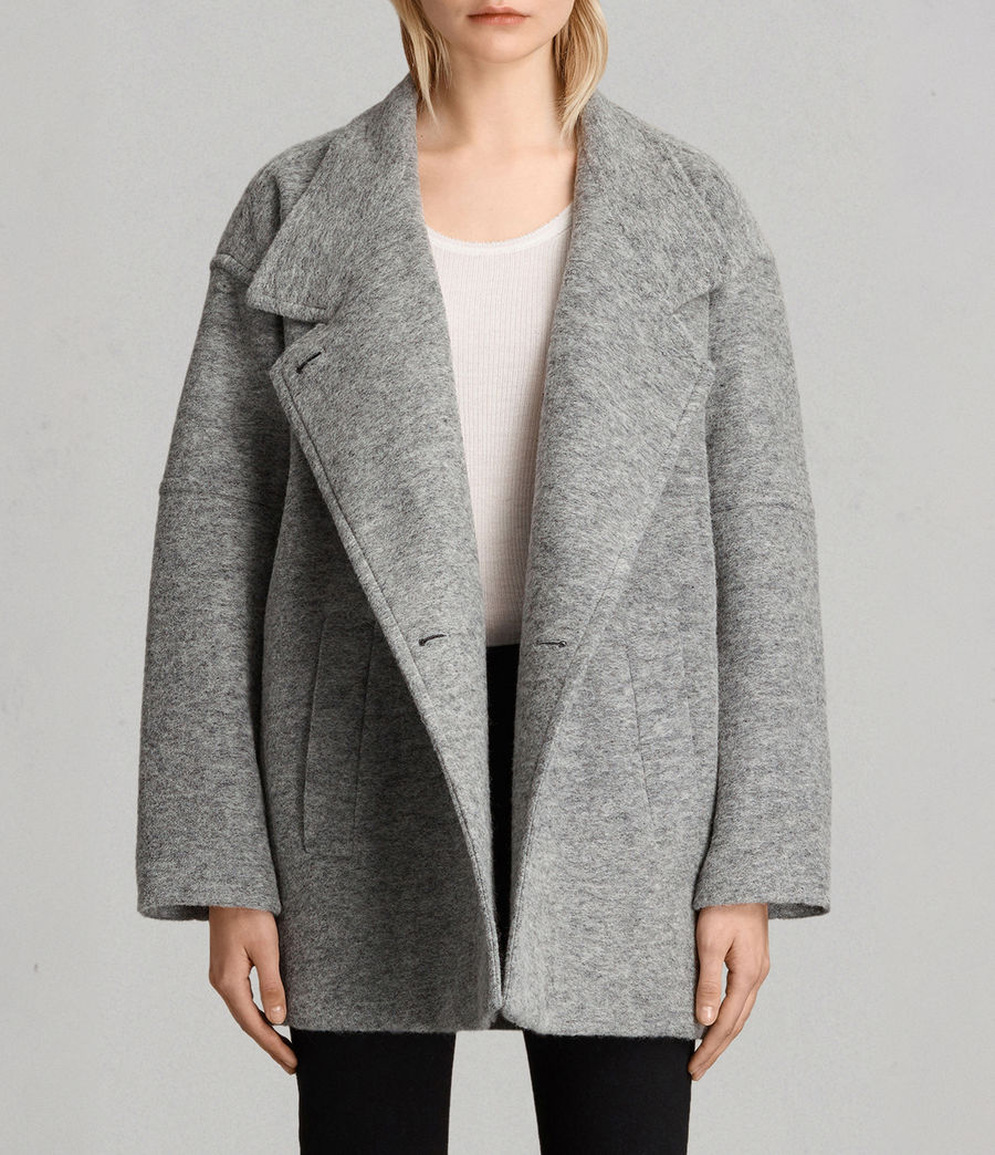 Womens Meade Ricci Coat (pale_grey) - Image 1