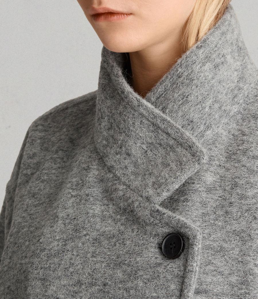 Womens Meade Ricci Coat (pale_grey) - Image 2