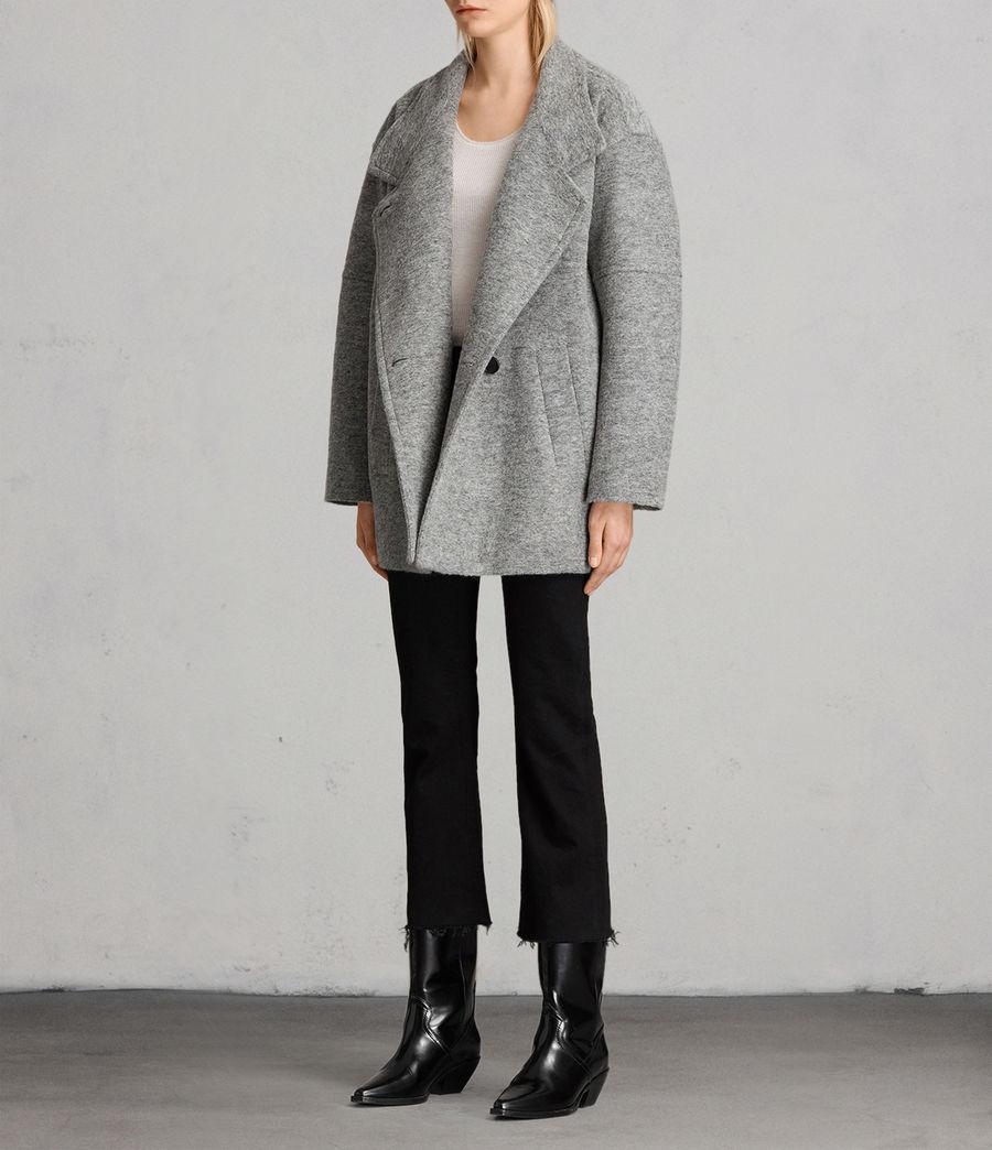 Womens Meade Ricci Coat (pale_grey) - Image 3