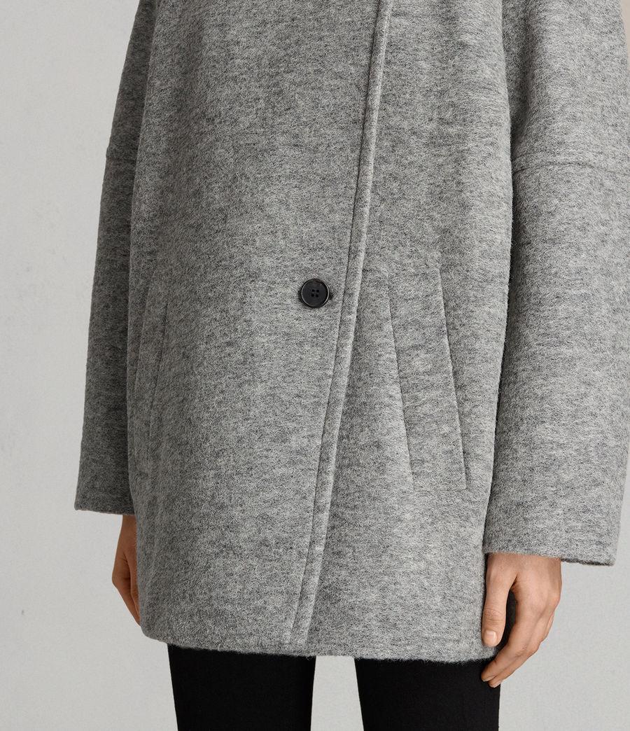 Womens Meade Ricci Coat (pale_grey) - Image 4