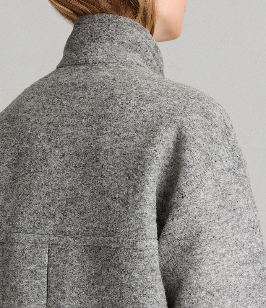 Womens Meade Ricci Coat (pale_grey) - Image 6