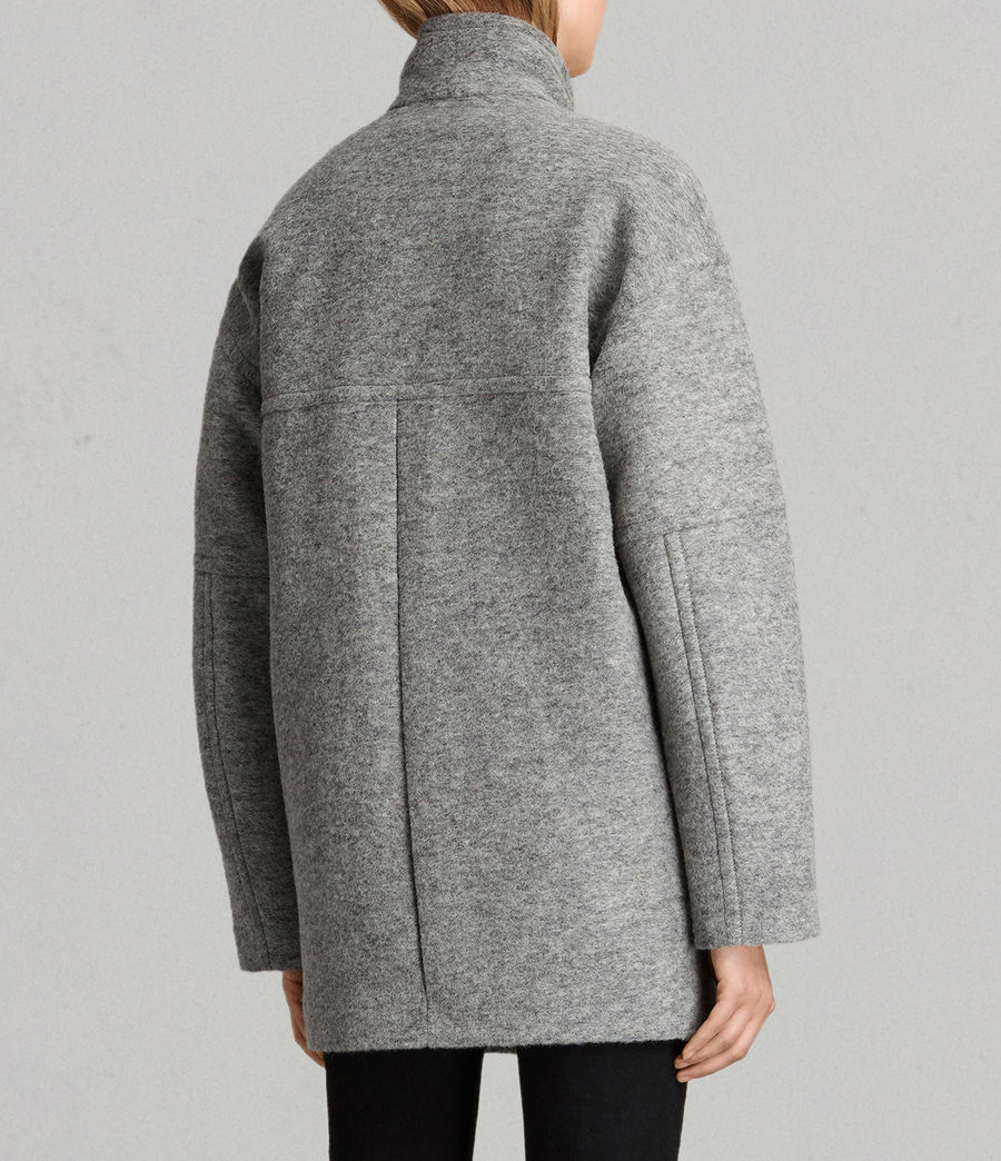 Womens Meade Ricci Coat (pale_grey) - Image 7