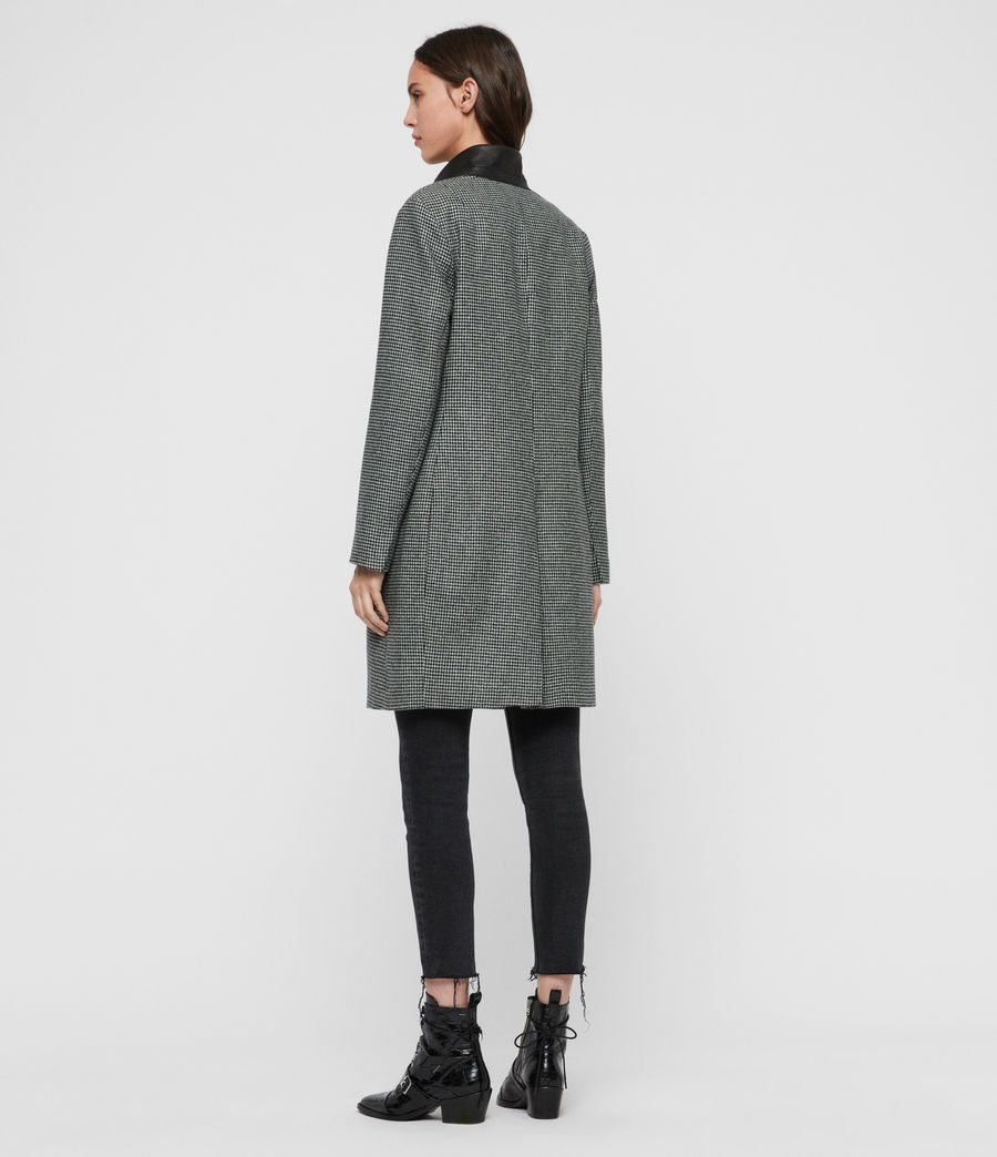 Women's Leni Puppytooth Coat (black_white) - Image 7