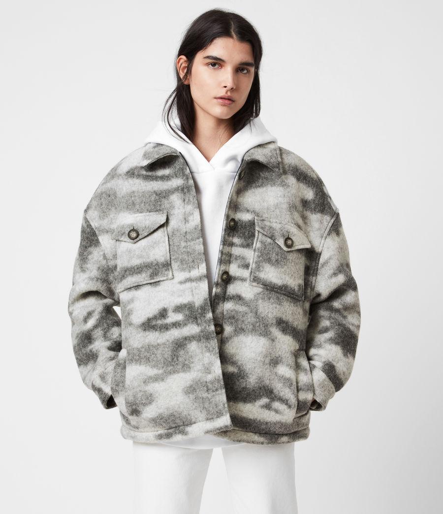 Womens Fenix Sherpa Lined Jacket (grey_marl) - Image 1