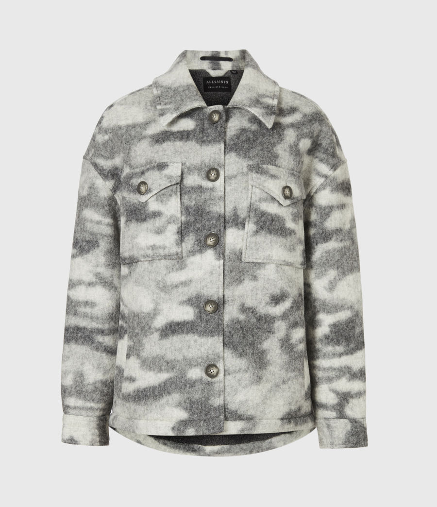 Womens Fenix Sherpa Lined Jacket (grey_marl) - Image 2