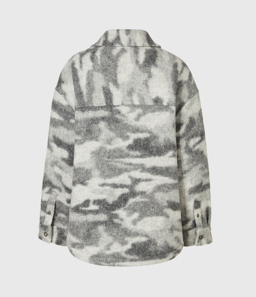 Womens Fenix Sherpa Lined Jacket (grey_marl) - Image 3