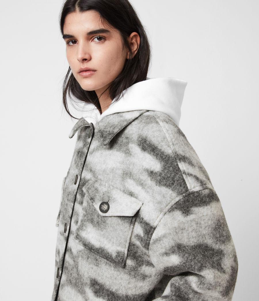 Womens Fenix Sherpa Lined Jacket (grey_marl) - Image 4