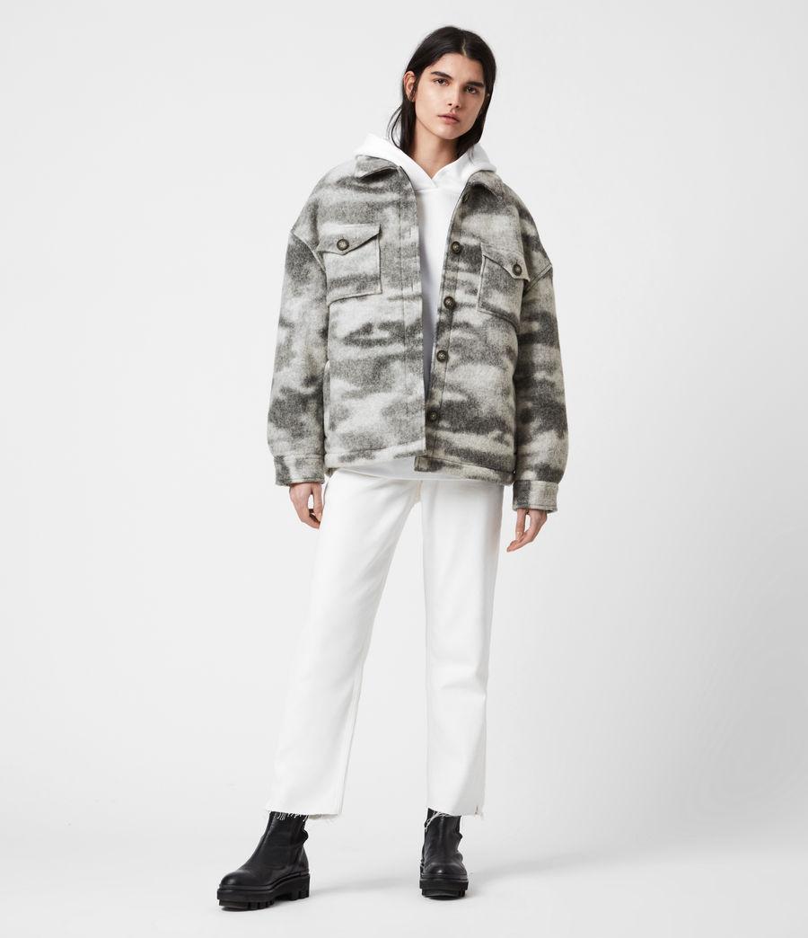 Womens Fenix Sherpa Lined Jacket (grey_marl) - Image 6