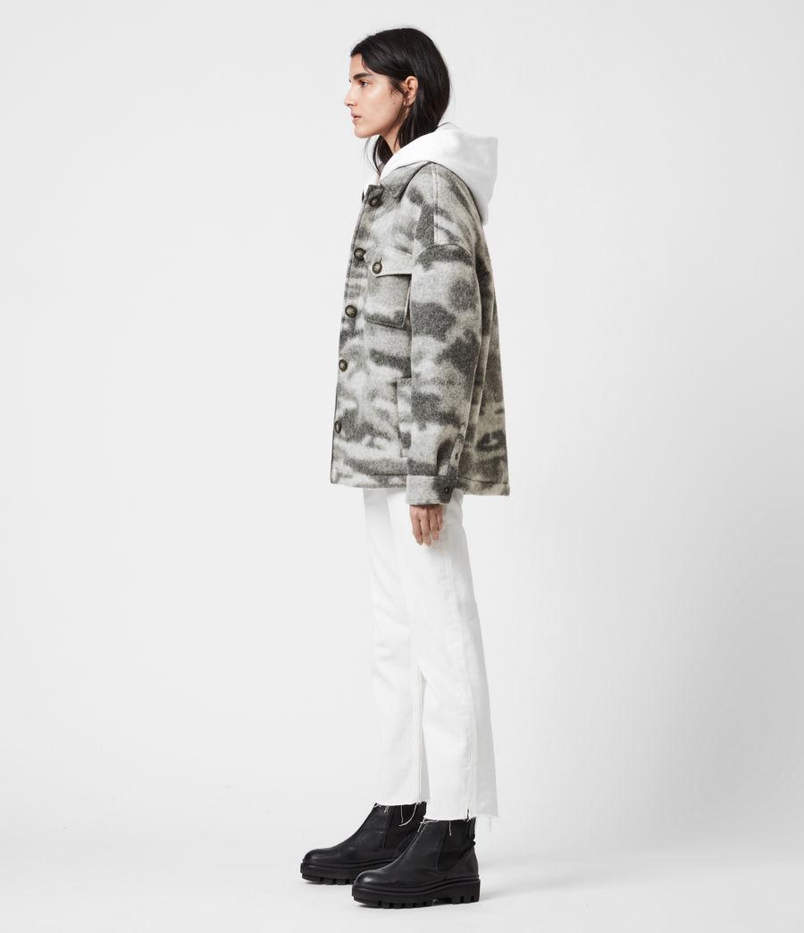 Womens Fenix Sherpa Lined Jacket (grey_marl) - Image 7