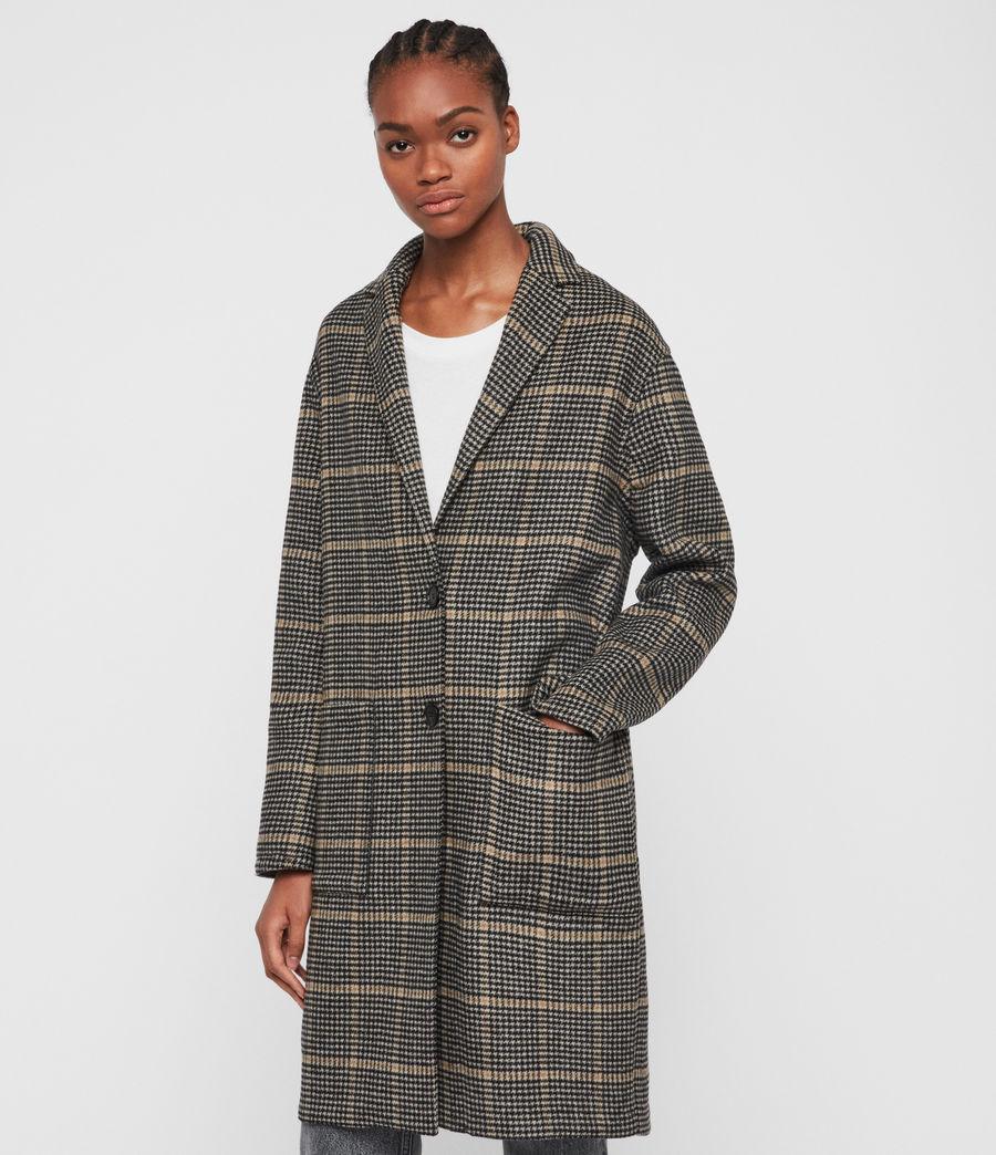 Women's Anya Aurora Coat (black_camel) - Image 2