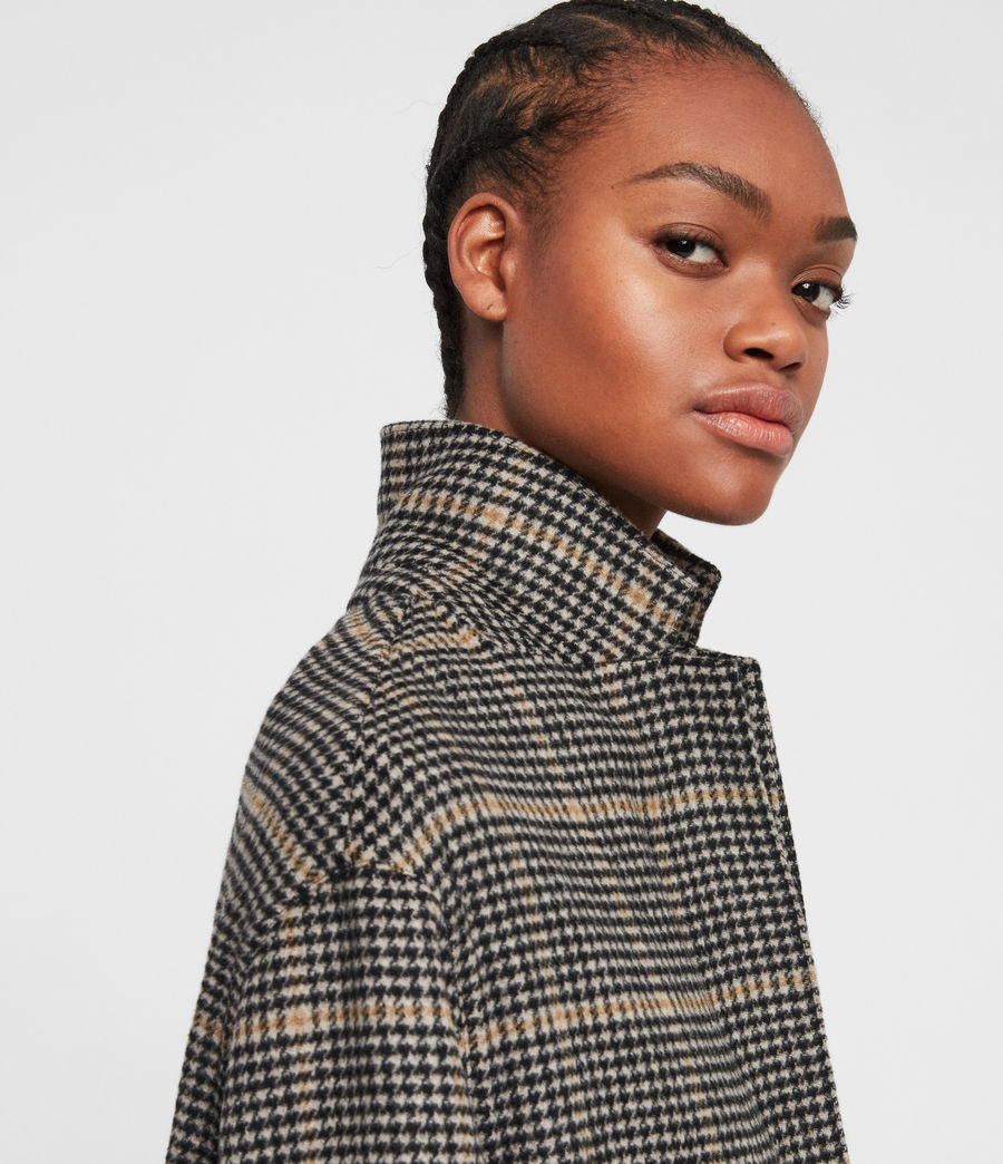 Women's Anya Aurora Coat (black_camel) - Image 3